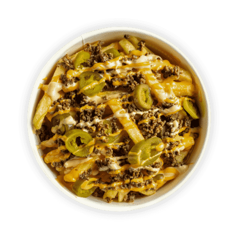 Animal Fries - Tasty beef & fries topped with jalapeños & our 'Signature Classic' sauce.