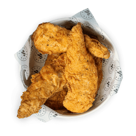 Chicken Strips - Our sides are breaded in our Burger & Sauce special marinade coating & fried to perfection.