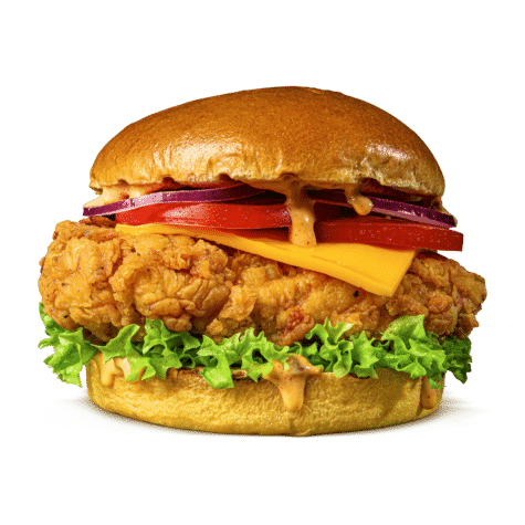 The Chicken Burger Classic - Succulent chicken breast, fried to perfection.